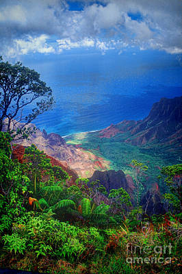 Na Pali Coast Kauai Poster by David Smith