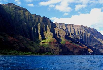 Na Pali Coast On Kauai Poster
