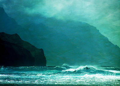 Na Pali Coast Poster by Roselynne Broussard