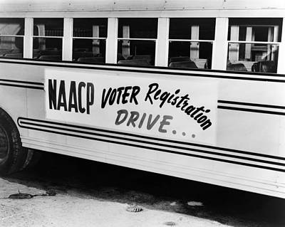 Naacp Voter Drive, C1962 Poster