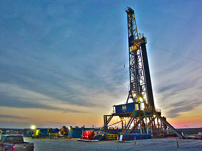Poster featuring the photograph Nabors Rig In West Texas by Lanita Williams
