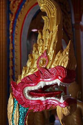 Naga - Wat Chalong - Phuket Thailand - 01131 Poster by DC Photographer