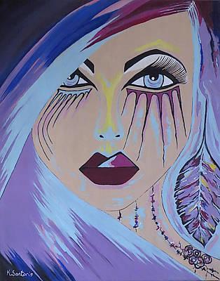 Naira - Contemporary Woman Painting Poster