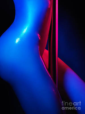 Naked Woman Pole Dancing Closeup Of Nude Body Poster by Oleksiy Maksymenko