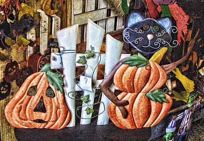 Halloween On Ther Scene Poster by Linda Phelps