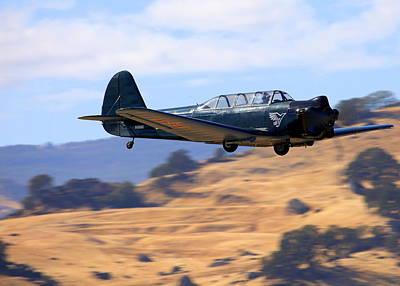 Nanchang China Cj-5 Fly-by N4366s Poster by John King