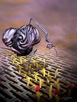 Nanobot Modifying Dna Poster