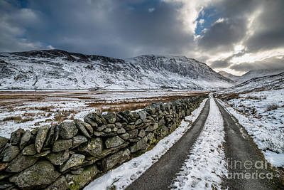 Nant Ffrancon Pass Poster by Adrian Evans