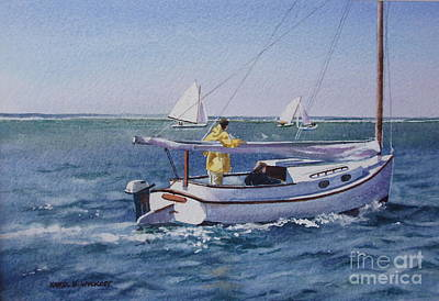 Nantucket Sound Catboat Poster by Karol Wyckoff