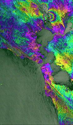 Napa Valley Earthquake Poster by Esa/ppo.labs/norut/comet-seom Insarap Study