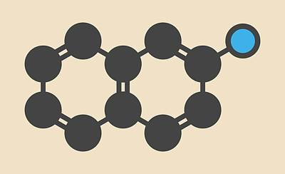 Naphthylamine Carcinogen Molecule Poster