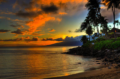 Napili Sunset Poster by Kelly Wade