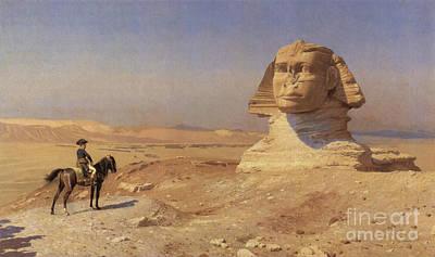 Napoleon Bonaparte Before The Sphinx Poster