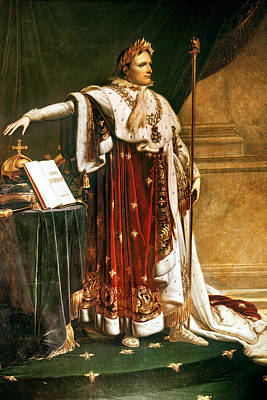 Napoleon Bonaparte In Coronation Robes Poster