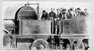 Napoleon IIi Inspecting Train Poster
