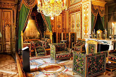 Napoleons Bedroom - Chateaux Fontainebleau - France Poster by Jon Berghoff