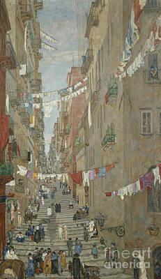 Napoli Pallonetto De Santa Lucia Poster by Anders Svarstad