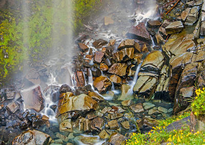 Narada Falls Mount Rainier National Park Poster by Bob Noble Photography