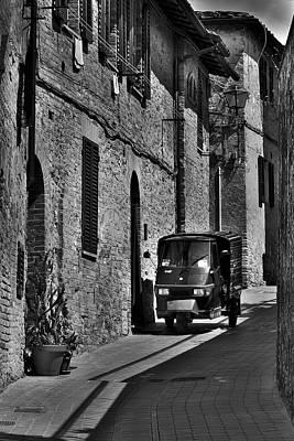 Narrow Italian Street Poster by Ivan Slosar