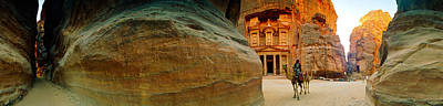 Narrow Passageway At Al Khazneh, Petra Poster by Panoramic Images