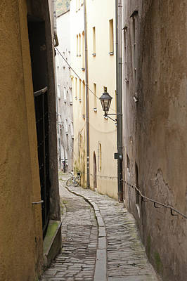 Narrow Street In Passau, Germany Poster by Michael Defreitas