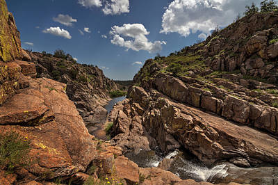 Narrows Canyon In The Wichita Mountains Poster