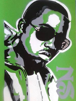 Nas In Green Poster by Leon Keay