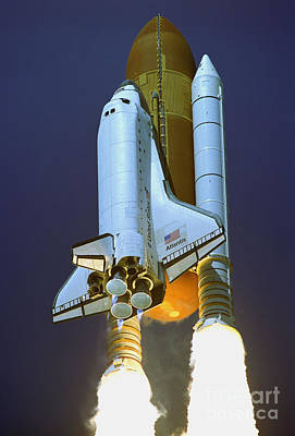 Nasa Atlantis Launch 2 Poster