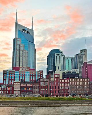 Nashville At Dusk Poster by Frozen in Time Fine Art Photography