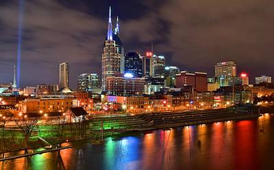 Nashville Night Poster by Frozen in Time Fine Art Photography