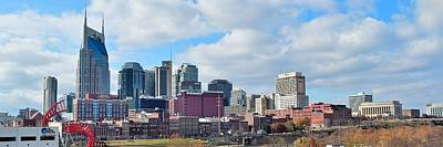 Nashville Panoramic View Poster by Frozen in Time Fine Art Photography