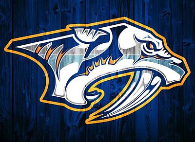 Nashville Predators Barn Door Poster by Dan Sproul