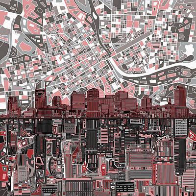 Nashville Skyline Abstract 3 Poster