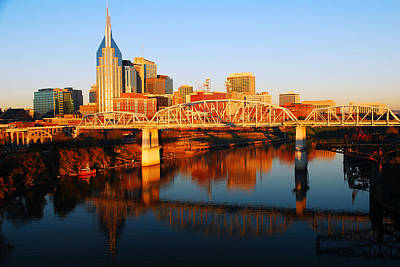 Poster featuring the photograph Nashville Skyline by James Kirkikis