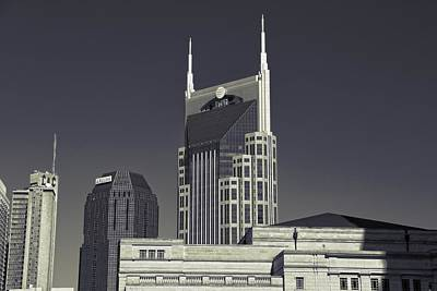 Nashville Tennessee Batman Building Poster by Dan Sproul