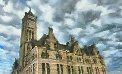 Nashville's Union Station Painted Poster by Dan Sproul
