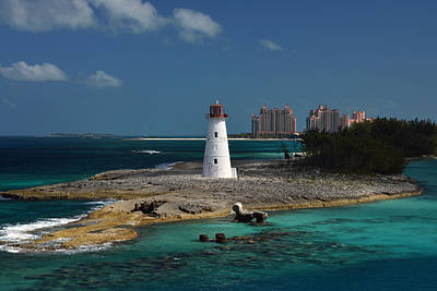 Poster featuring the photograph Nassau Harbour Lighthouse by Bill Swartwout