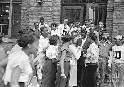Nat King Cole With Fans 1954 Poster by The Harrington Collection