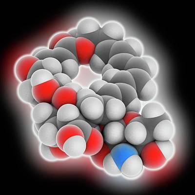 Natamycin Molecule Poster by Laguna Design