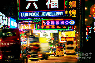 Nathan Road Hong Kong  Poster by Colin Woods