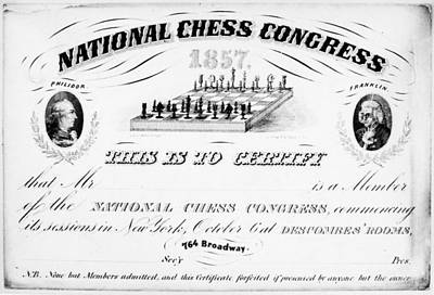 National Chess Congress Poster by Granger