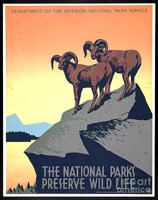 National Parks Poster 1939 Poster by Padre Art