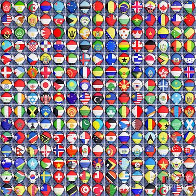Nations United Poster by Antony McAulay