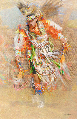 Native American Dancer Poster by Dyle   Warren
