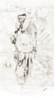 Poster featuring the digital art Native American by Erika Weber