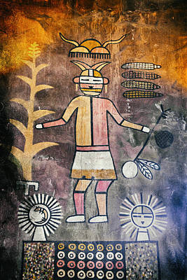 Native American Harvest Pictograph Poster