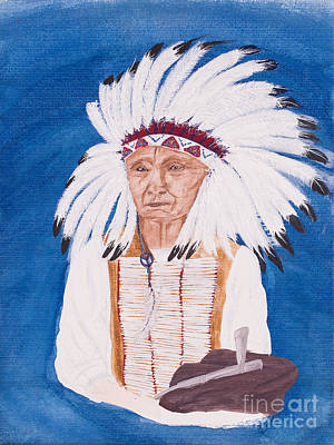 Native American Indian Painting By Carolyn Bennett Poster by Simon Bratt Photography LRPS
