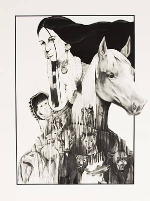 Native American Mother's Life Journey Poster