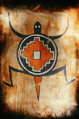 Native American Turtle Pictograph Poster