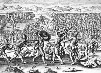 Native Americans Florida Battle Poster by Granger